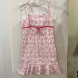 Lilly Pulitzer white pink eyelet sundress 14